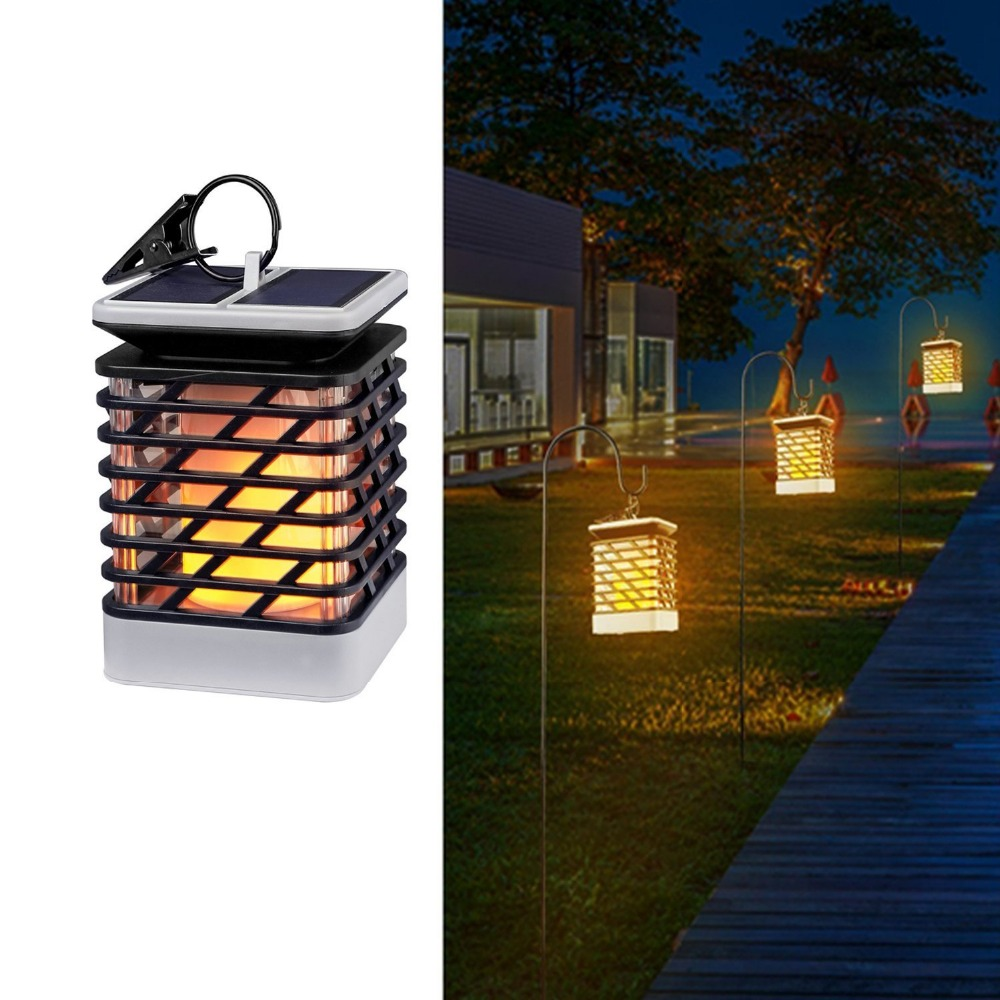 Solar LED Flame Lights Waterproof Outdoor Garden Lamp