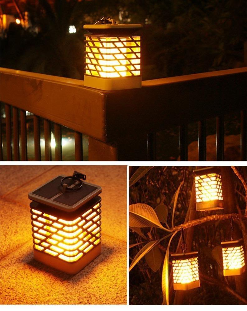 Solar LED flame lights