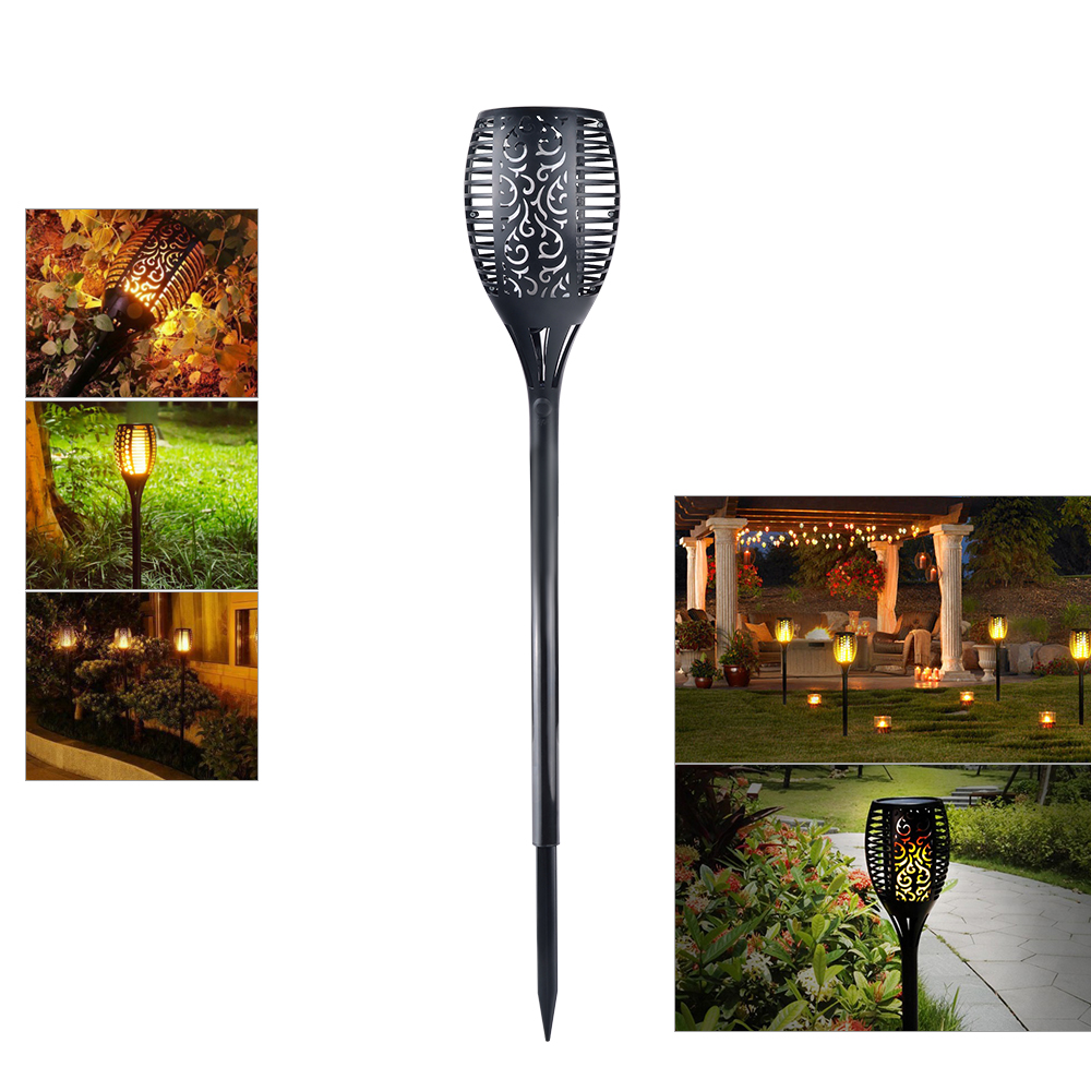Solar Led Flame Lampchina Lampsolar Lamp 24v Waterproof Street Light Pwm Charge Controller Circuit Lawn Path 96 Leds Romantic Flicker Effect Torch Lights Outdoor